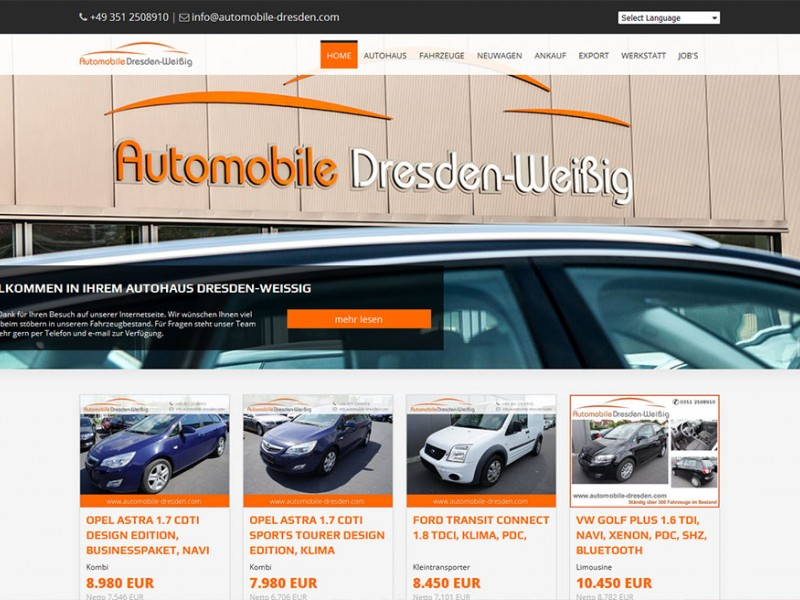 Automobile Dresden Weissig