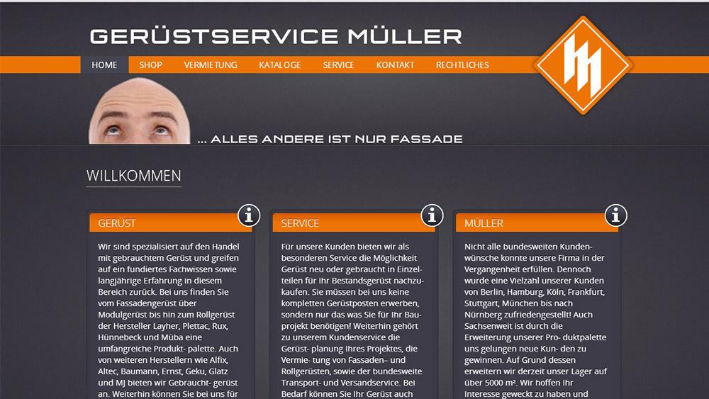 Marken-Relaunch Gerüstservice Müller
