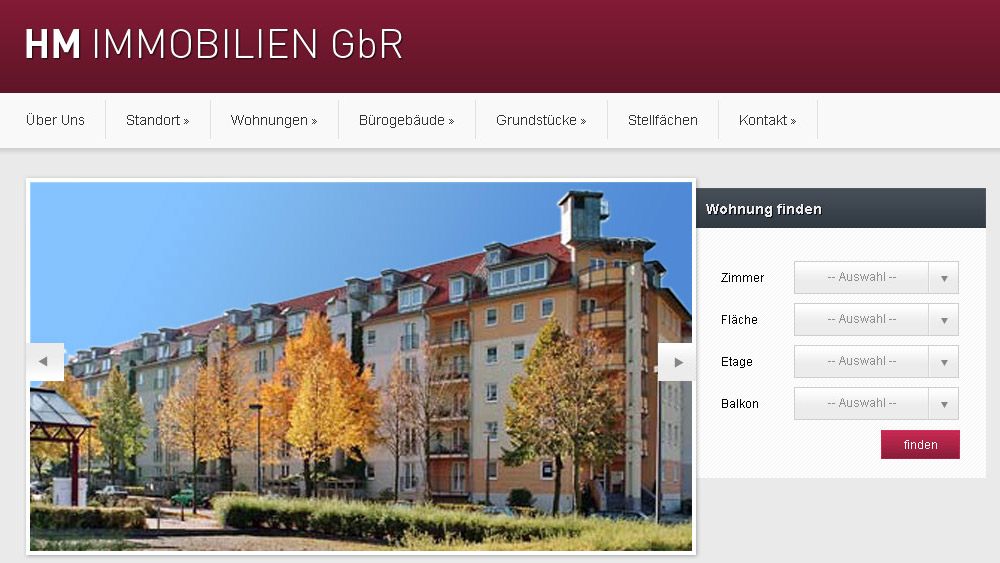 Relaunch HM Immobilien