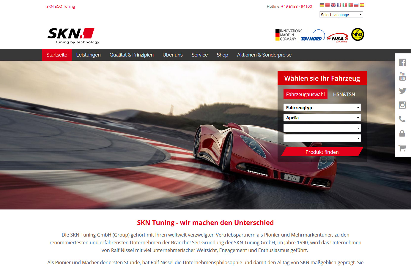 Relaunch - SKN Tuning Web/Shop